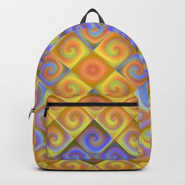 Spirals in Squares Backpack