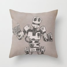 Sheepish Robot Throw Pillow