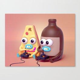 "BFFLs ""Pizza & Beer"" 🍕🍺💕 Canvas Print"
