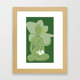 Green Buddha Framed Art Print