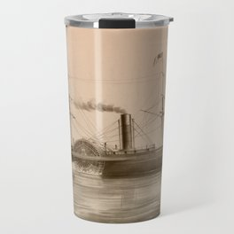Steamship on Sea. Age of Steam #011 Travel Mug