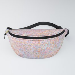 Modern teal pink gold yellow watercolor splatters Fanny Pack