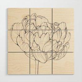 Diamond Tulip Wood Wall Art