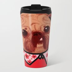 Toofy Pug  Metal Travel Mug