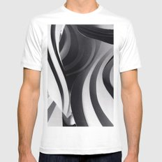 Paper Sculpture #5 White MEDIUM Mens Fitted Tee