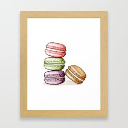 Desserts: Macarons Framed Art Print