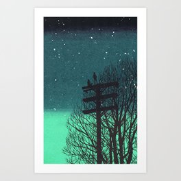 Gone Away Night Art Print