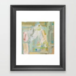 Soft Pastel Abstract Framed Art Print