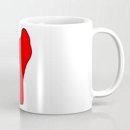 Benin Silhouette Map Coffee Mug