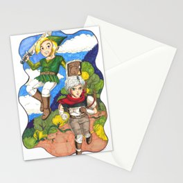 LoZ x Bastion: Day and Night Stationery Cards