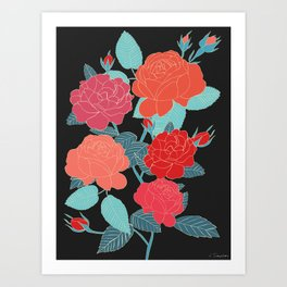 Rose Garden - Dark Art Print