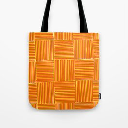 Red & Yellow Criss Cross Tote Bag