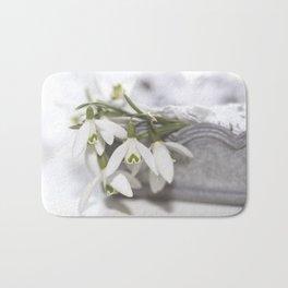 Snowdrops still life - Flower Floral Flowers #Society6 Bath Mat