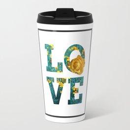 Love Floral Letter Travel Mug
