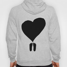 footy heart Hoody