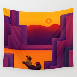 Cactus Courtyard 1 Wall Tapestry