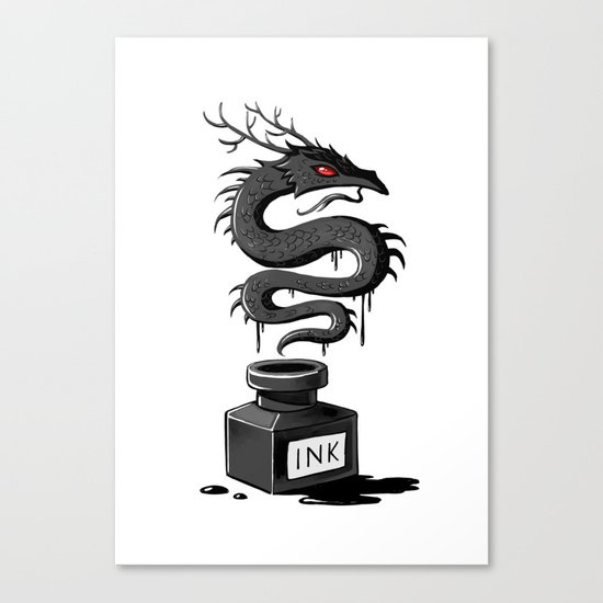 Ink Dragon Canvas Print