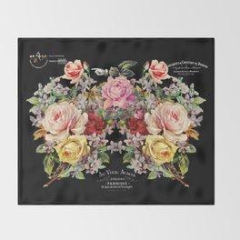 Nuit Des Roses Throw Blanket