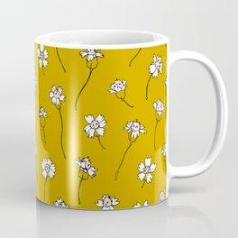 Dainty Wildflowers - Mustard & Blush Coffee Mug
