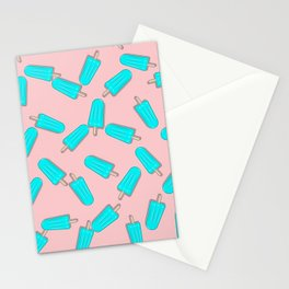 CUTE SUMMER PASTEL ICE CREAM PATTERN Stationery Cards