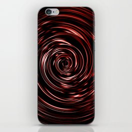 Swirling Red Vortex iPhone Skin