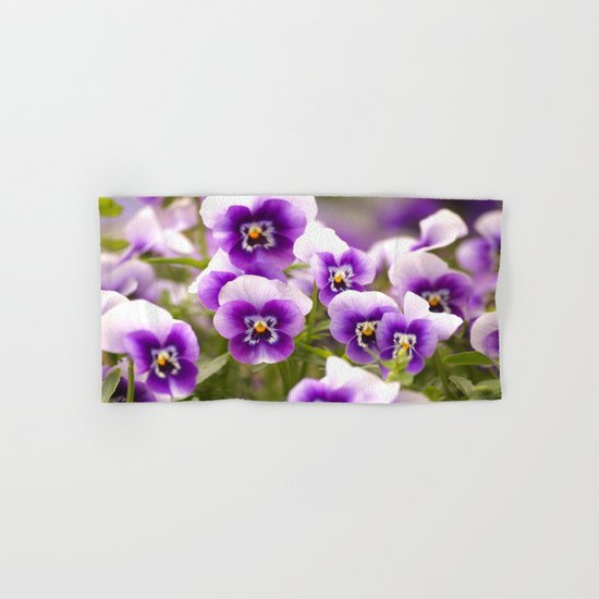 Wonderful Pansies  Hand & Bath Towel
