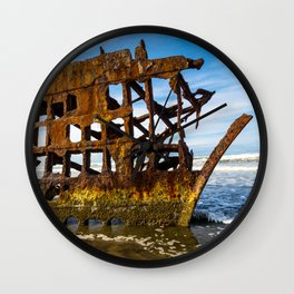 Peter Iredale Shipwreck - Pacific Ocean - Oregon Wall Clock