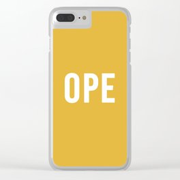 OPE Mustard Clear iPhone Case