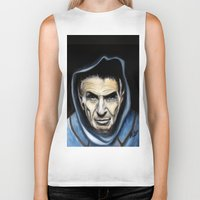 spock Biker Tanks featuring Spock by James Kruse