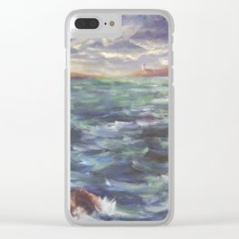 Lighthouse in the Distance AC150426 Clear iPhone Case
