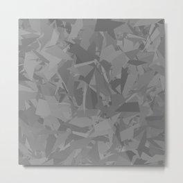 Gray camouflage Metal Print
