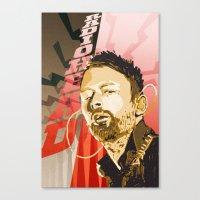 radiohead Canvas Prints featuring Radiohead by Ferdinand Bardamu