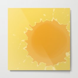 Splat on Yellow - by Friztin Metal Print