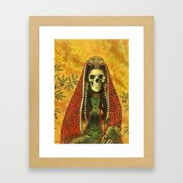 Gothic Decorative Skeleton Framed Art Print