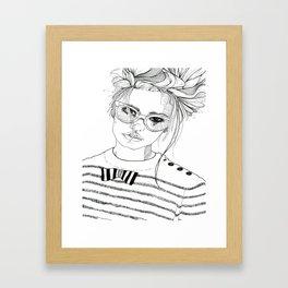 Stripe with Me Framed Art Print