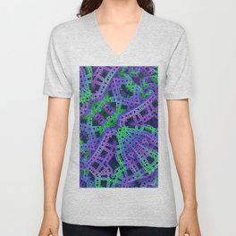 Green and purple film ribbons Unisex V-Neck
