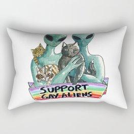support gay aliens Rectangular Pillow