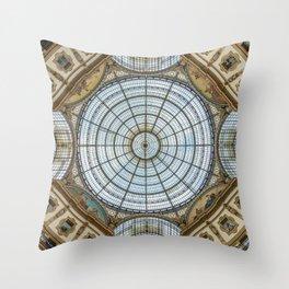 Ceiling of the Galleria Vittorio Emanuele II, Milan Throw Pillow