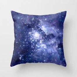 Cobalt Dreams, Universe Stars Space Nebula Throw Pillow