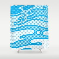 camo Shower Curtains featuring Pop Camo by Joe Van Wetering
