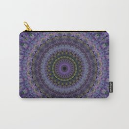 Floral mandala in violet and purple tones Carry-All Pouch