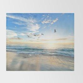 Beach Scene 34 Throw Blanket