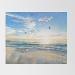 Beach Scene 34 Throw Blanket