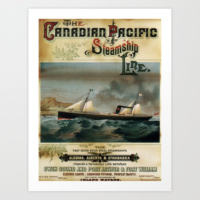Vintage poster - Canadian Pacific Art Print by mosfunky