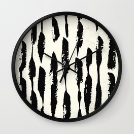 Tribal Paint Stripes Wall Clock