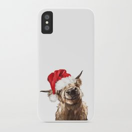 Christmas Highland Cow iPhone Case
