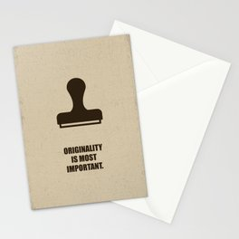 Lab No. 4 -Originality is most important corporate start-up quotes Poster Stationery Cards