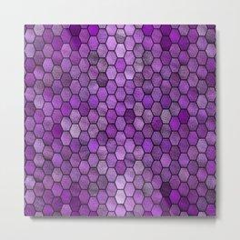 Glitter Tiles ১ Metal Print