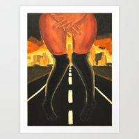 Stuck In Traffic Art Print