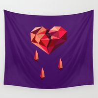 vector Wall Tapestries featuring Heart vector by Tony Vazquez